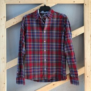 Men's Plaid Long Sleeve Button Down